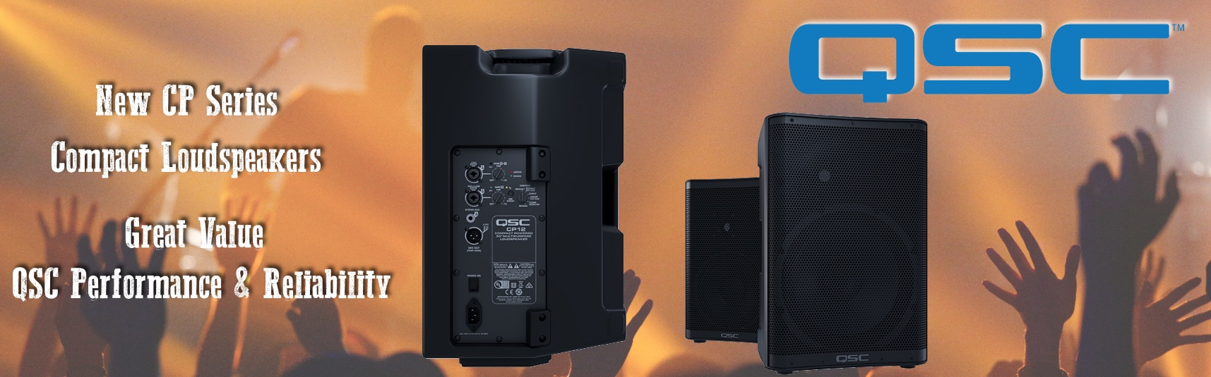 New QSC CP Series Active Loudspeaker