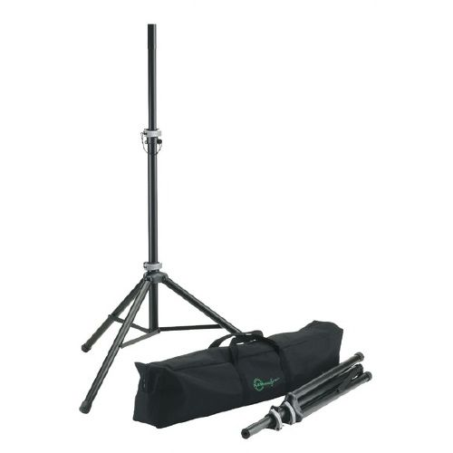 K&M 21459 Speaker Stand Pack:  2 x 21450 Stands and Carry Bag